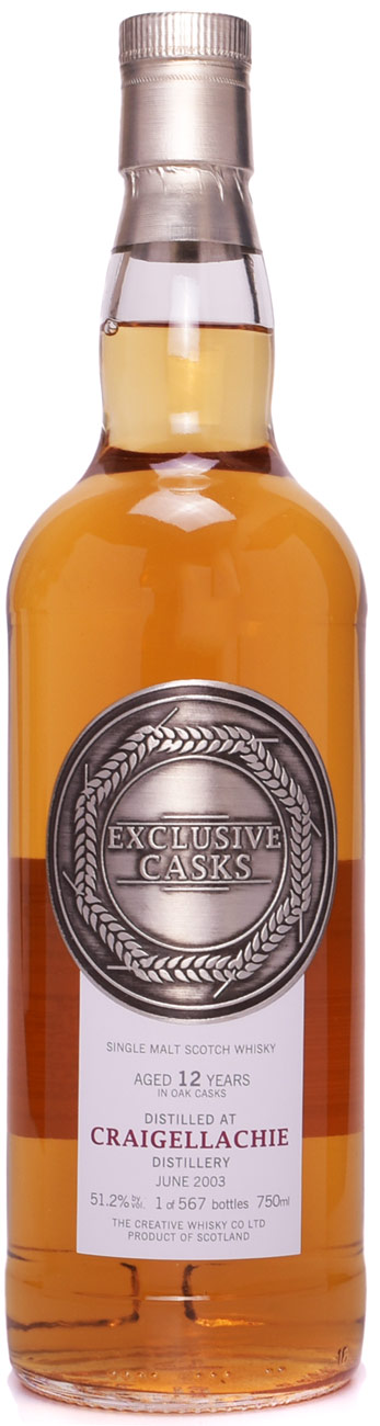 Exclusive Casks Craigellachie 12 Year Old Single Malt Scotch 2003