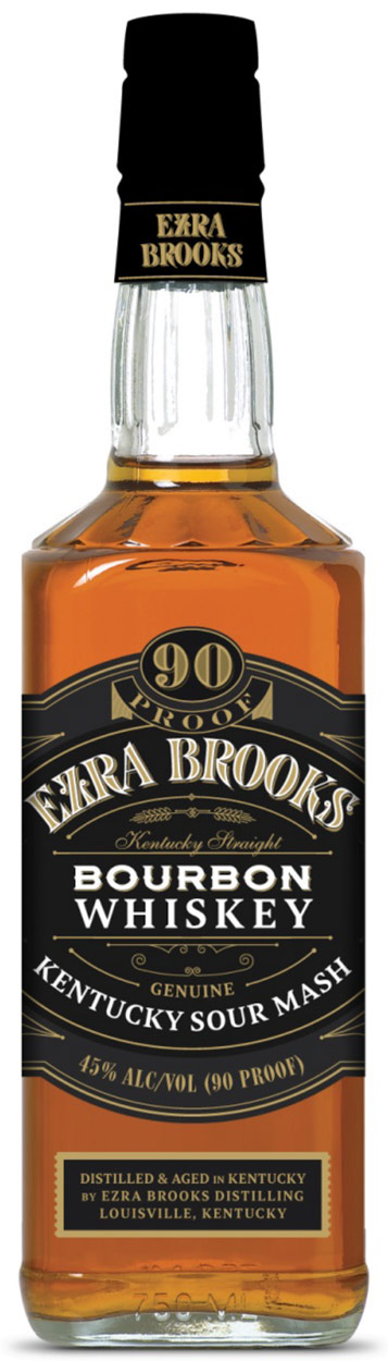 Ezra Brooks Bourbon Whiskey 1L