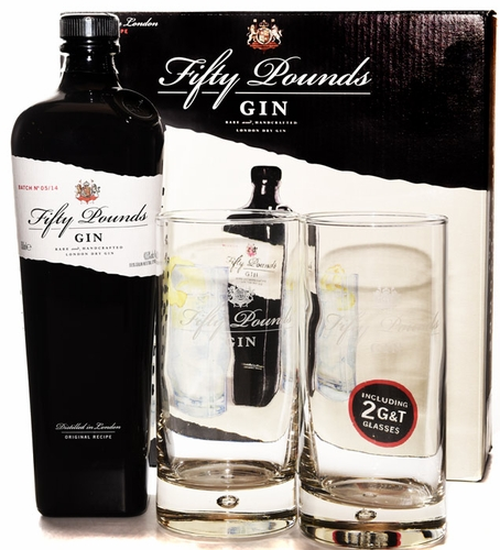 Fifty Pounds London Dry Gin Gift Set 750ML