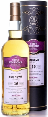 First Editions Ben Nevis 16 Year Old Single Malt Scotch 1998