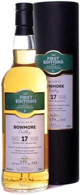First Editions Bowmore 17 Year Old Single Malt Scotch 1996