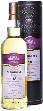 First Editions Glengoyne 18 Year Old Single Malt Scotch 1996
