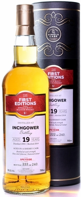 First Editions Inchgower 19 Year Old Single Malt Scotch 750ML 1995