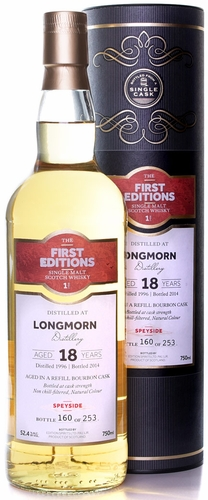First Editions Longmorn 18 Year Old Single Malt Scotch 1996