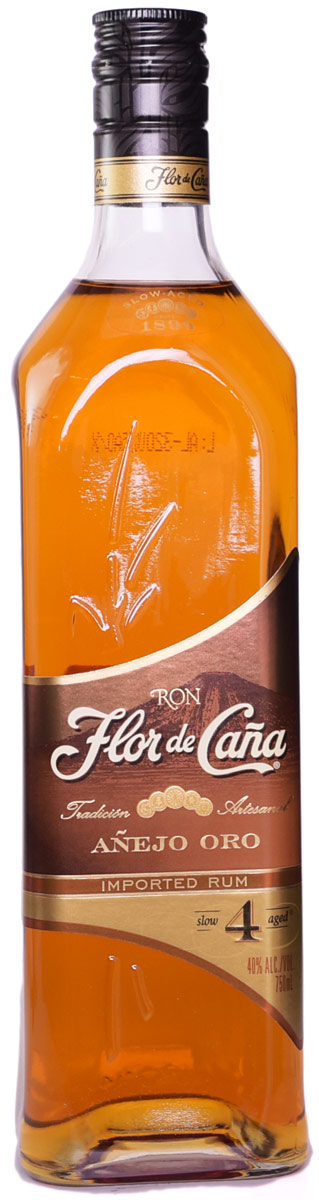 Flor de Cana Anejo Gold 4 Year Old Rum 750ML