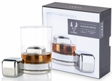 Glacier Rocks- 2 Stainless Steel Cube Whiskey Stones