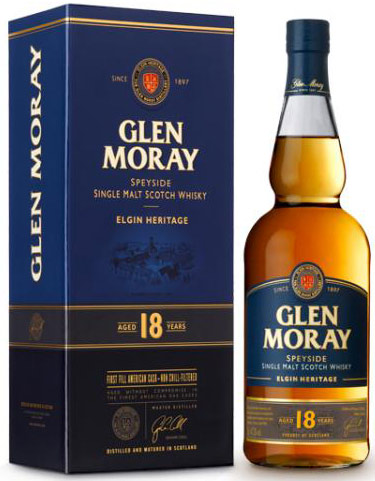 Glen Moray 18 Year Old Single Malt Scotch