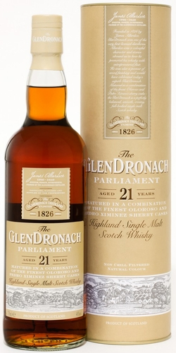Glendronach Parliament 21 Year Old Single Malt Scotch
