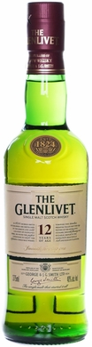 The Glenlivet 12 Year Old Single Malt Scotch 375ML