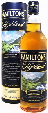 Hamiltons Highland Single Malt Scotch Whisky 750ML