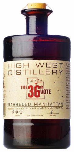 High West 36th Vote Barreled Manhattan