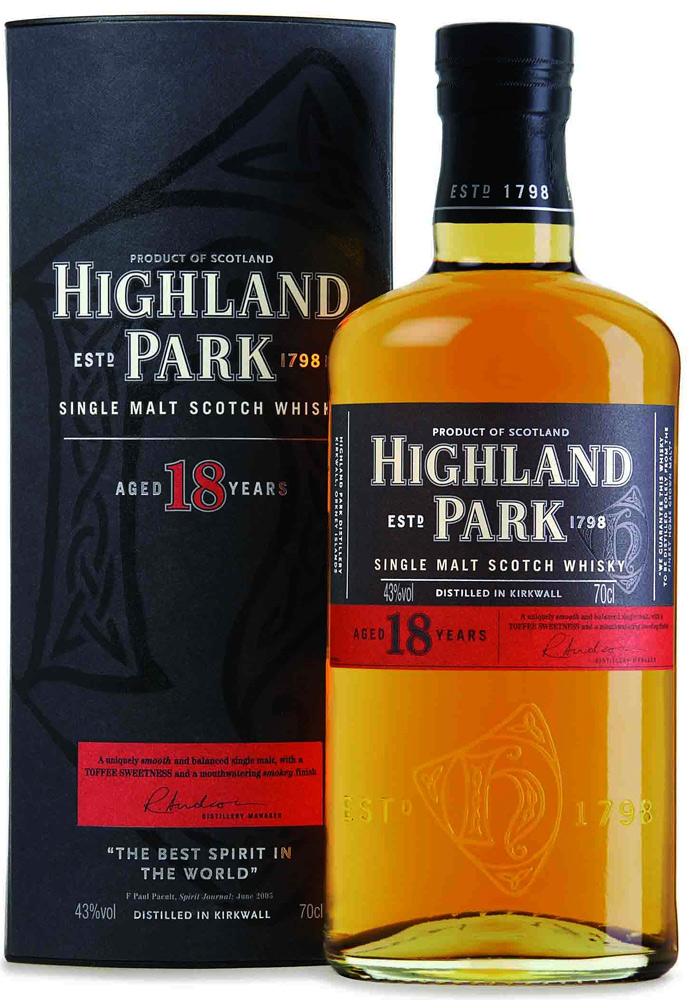 Highland Park 18 Year Old Single Malt Scotch