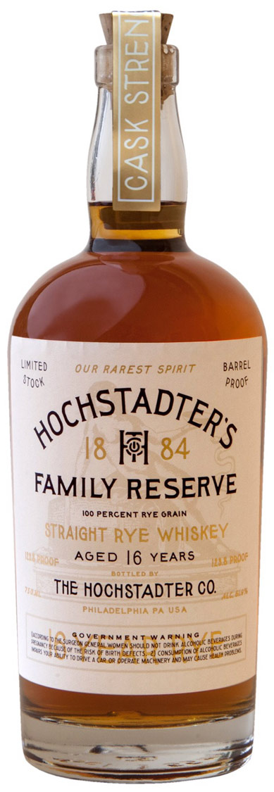 Hochstadter's Family Reserve 16 Year Old Rye Whiskey