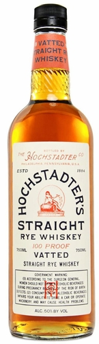 Hochstadters Vatted Straight Rye Whiskey 750ML