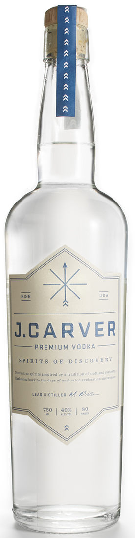 J. Carver Premium Vodka (case of 6)
