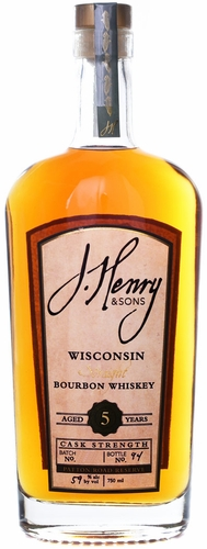 J. Henry & Sons Patton Road Reserve 5 Year Old Cask Strength Bourbon 750ML