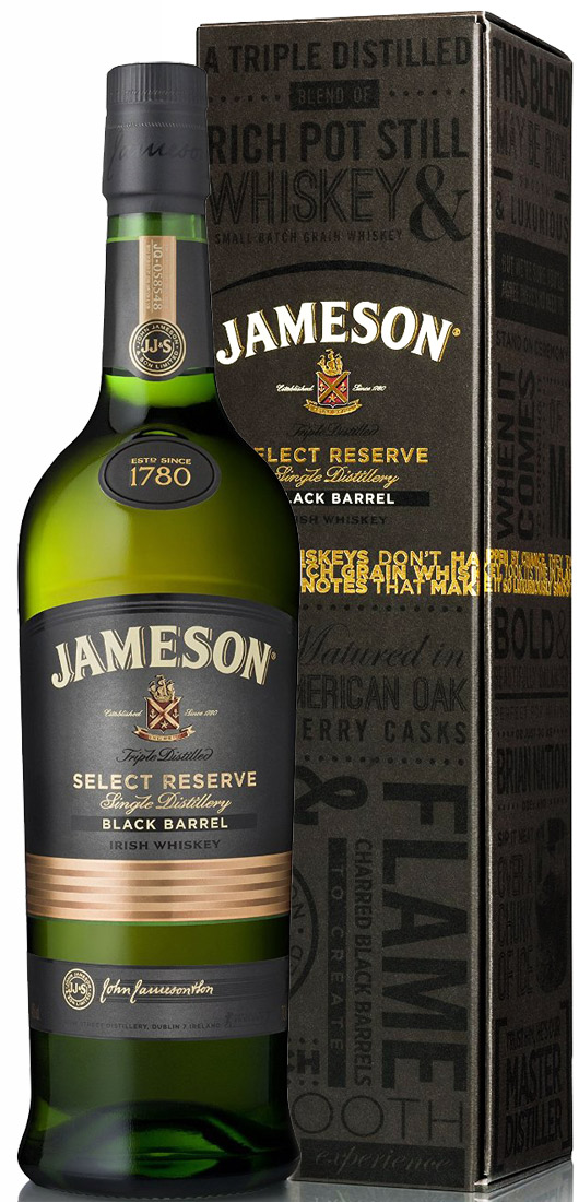 jameson select reserve black barrel irish whiskey ace spirits. Black Bedroom Furniture Sets. Home Design Ideas