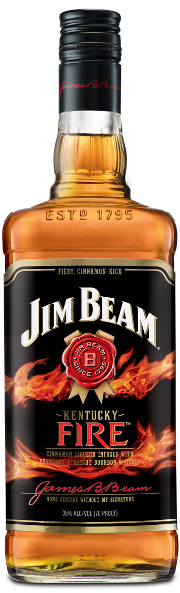 Jim Beam Kentucky Fire Cinnamon Flavored Whiskey 1L