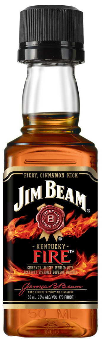 Jim Beam Kentucky Fire Cinnamon Flavored Whiskey 50ML