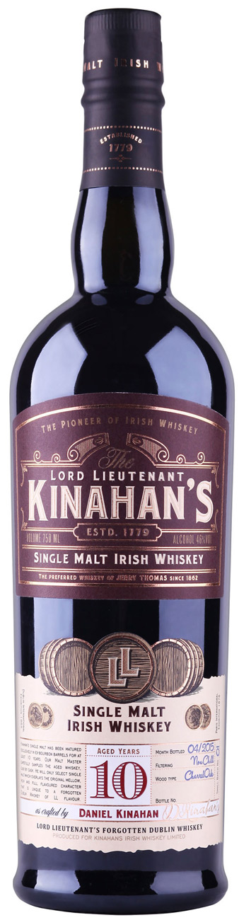 Kinahans 10 Year Old Single Malt Irish Whiskey 750ML