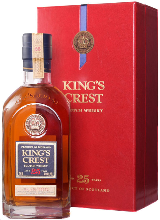 Kings Crest 25 Year Blended Scotch 750ML