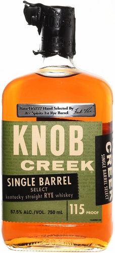 Knob Creek Single Barrel Rye Whiskey #5722- Ace Spirits Single Barrel