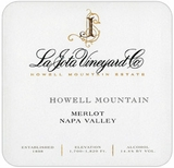 La Jota Howell Mountain Merlot 2014