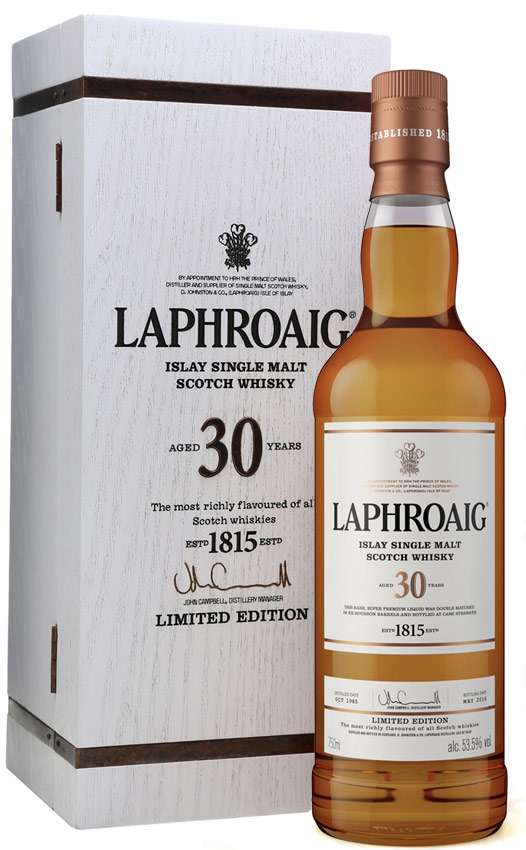 Laphroaig 30 Year Old Single Malt Scotch