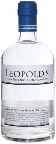 Leopolds Navy Strength American Gin 750ML