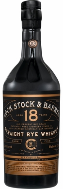 Lock Stock & Barrel 18 Year Old Straight Rye Whiskey