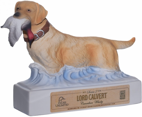 Lord Calvert Ducks Unlimited Decanter Bottle Candian Whisky