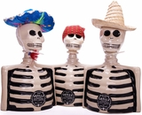 Los Azulejos Skelly Tequila Three Pack- Blanco, Repo & Anejo (bottle designs vary)