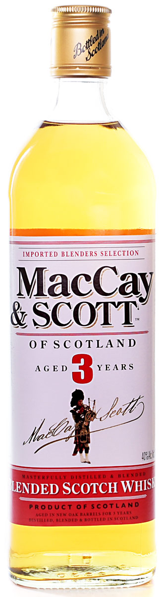 MacCay & Scott 3 Year Old Blended Scotch 750ML