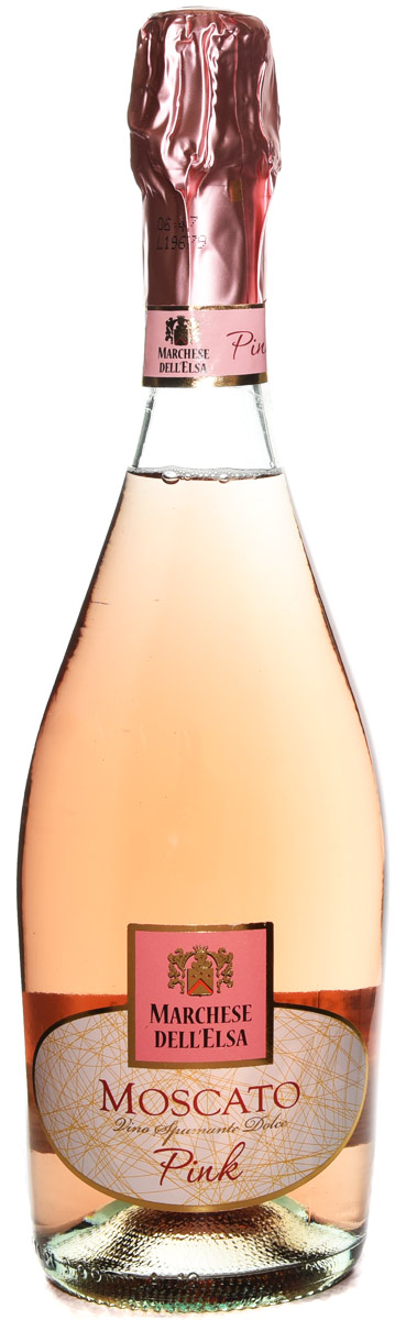 Marchese dellElsa Pink Moscato Sparkling Wine 750ML (case of 12)