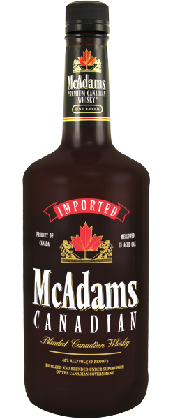 Image result for McAdams Canadian Whiskey 1.75
