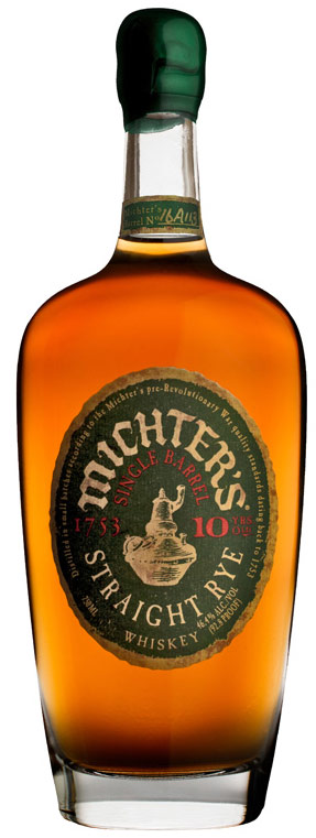 Michters 10 Year Old Single Barrel Rye Whiskey 750ML