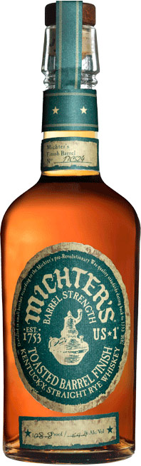 Michters Toasted Barrel Finish Rye Whiskey 750ML