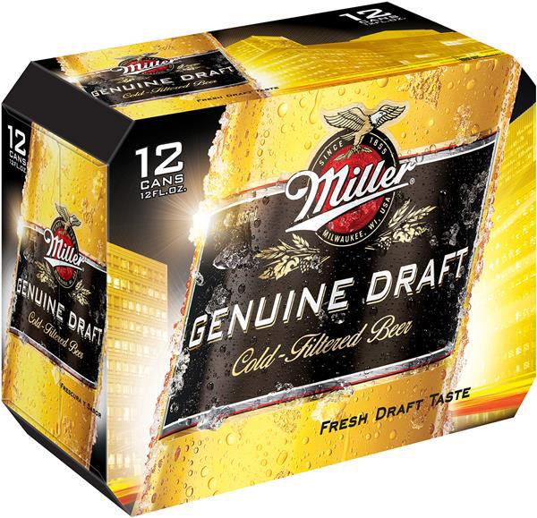 Miller Genuine Draft 12pk Cans