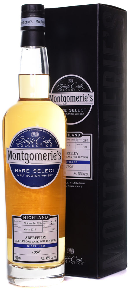 Montgomerie's Aberfeldy 18 Year Old Single Malt Scotch 1996