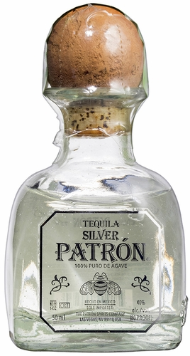 Patron Silver Tequila. Miniature Bottles Of Patron Tequila Silver.