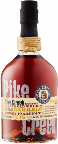Pike Creek 10 Year Old Canadian Whisky Finished in Rum Barrels