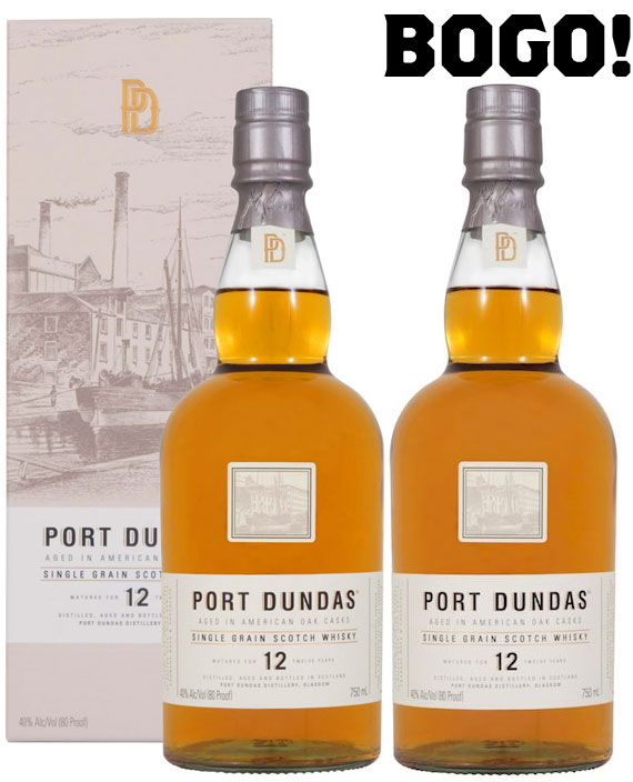 Port Dundas 12 Year Old Single Grain Whisky- BOGO!