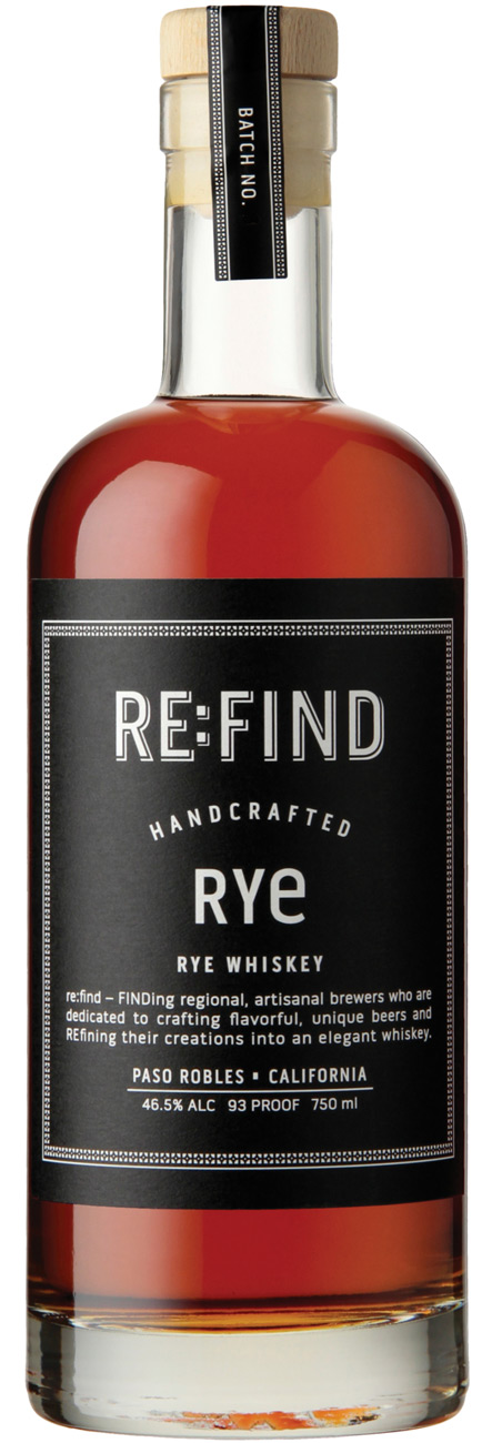 RE:FIND Handcrafted Rye Whiskey 750ML