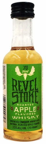 Revel Stoke Roasted Apple Flavored Canadian Whisky 50ML