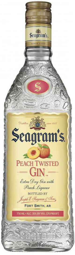 Seagrams Peach Twisted Gin 750ML