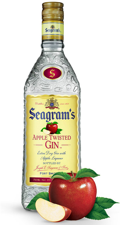 Seagrams Apple Twisted Gin 750ML