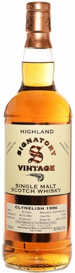 Signatory Clynelish 20 Year Old Cask Strength Single Malt Whisky 1996