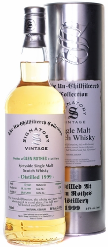 Signatory Glenrothes 15 Year Old Single Malt Whisky 1999
