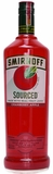 Smirnoff Sourced Cranberry Apple Flavored Vodka 1L