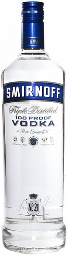 Smirnoff Vodka (100 proof) 1L